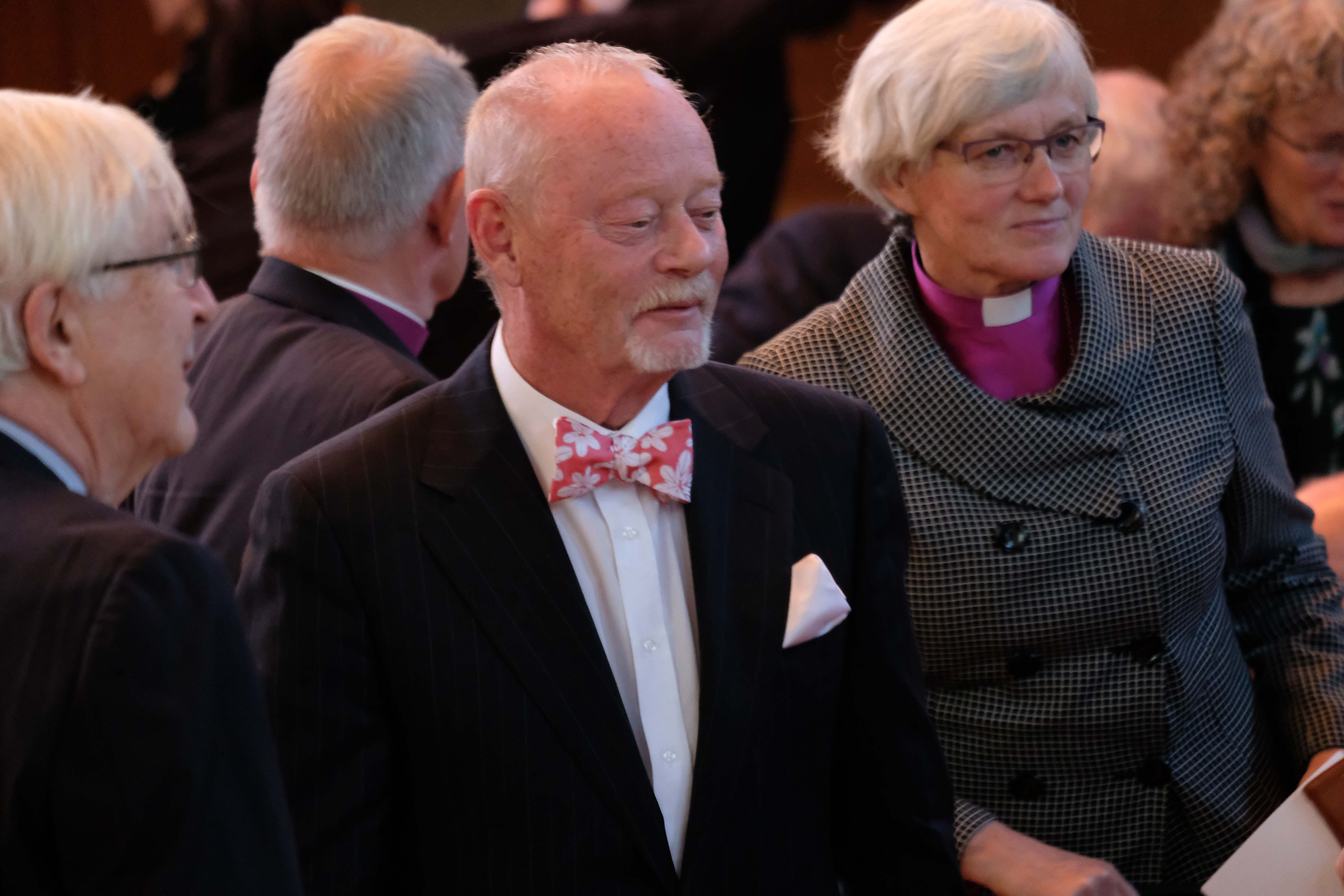 Jon Elster and Johan Skytte Professor Emeritus Leif Lewin with Archbishop of Sweden Antje Jackelén